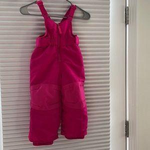 2t pink Cat & Jack snow pants